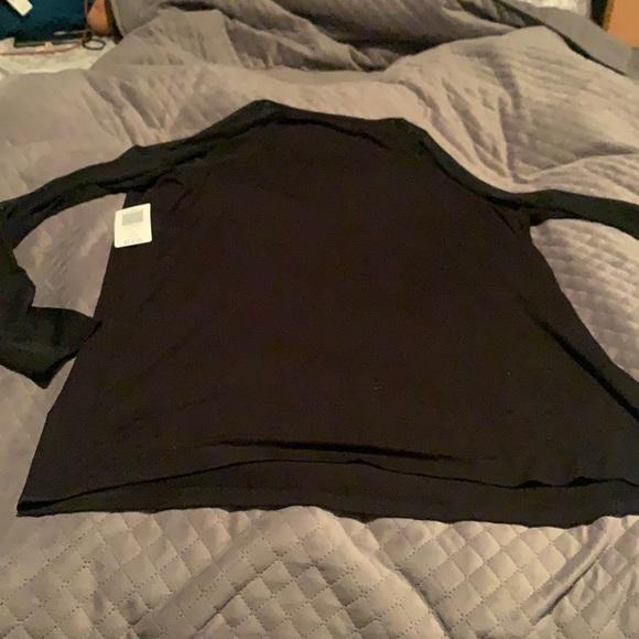 Black torrid long sleeve with mesh sleeves